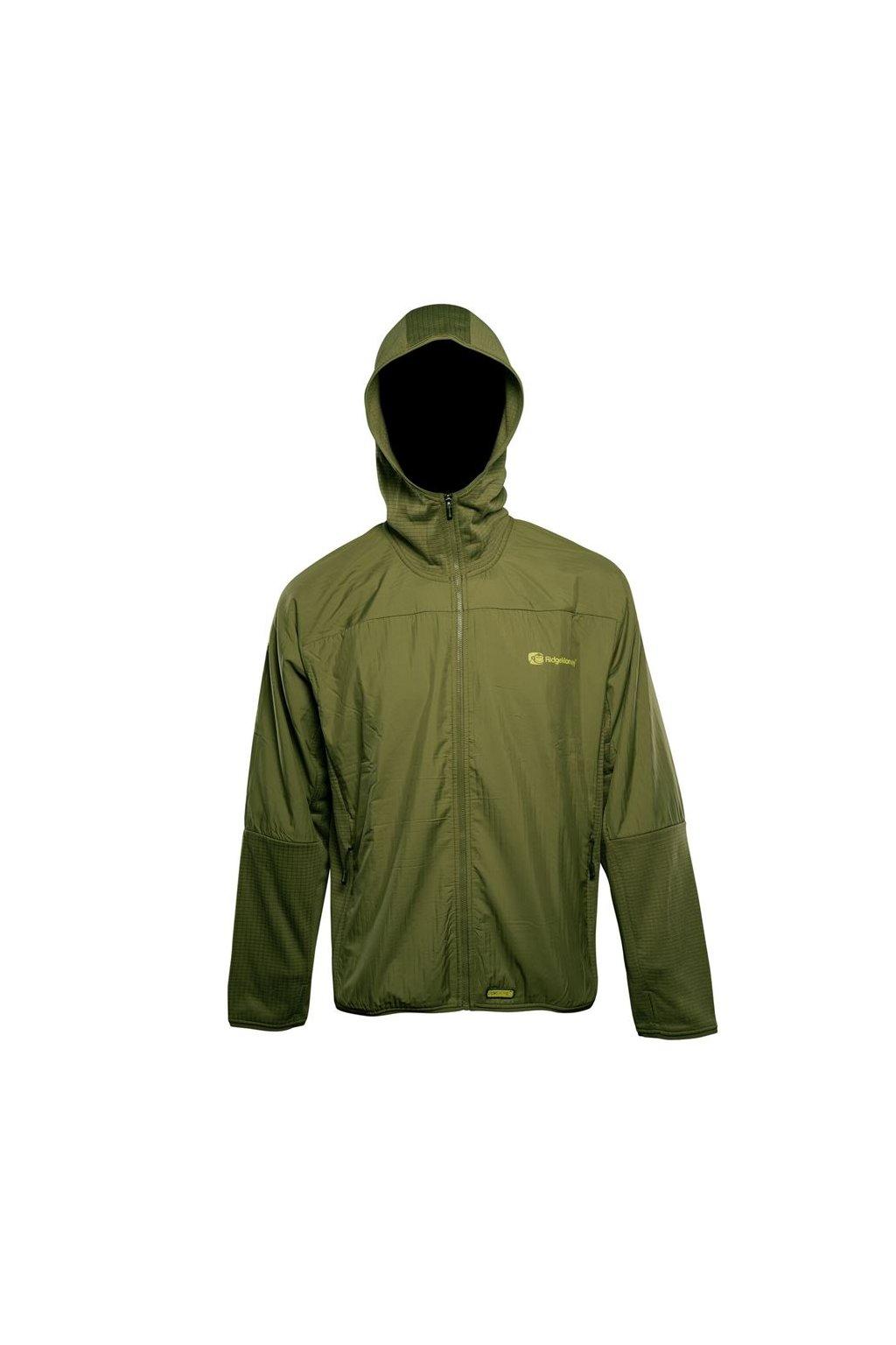 RidgeMonkey Bunda APEarel Dropback Lightweight Zip Jacket Green Velikost L