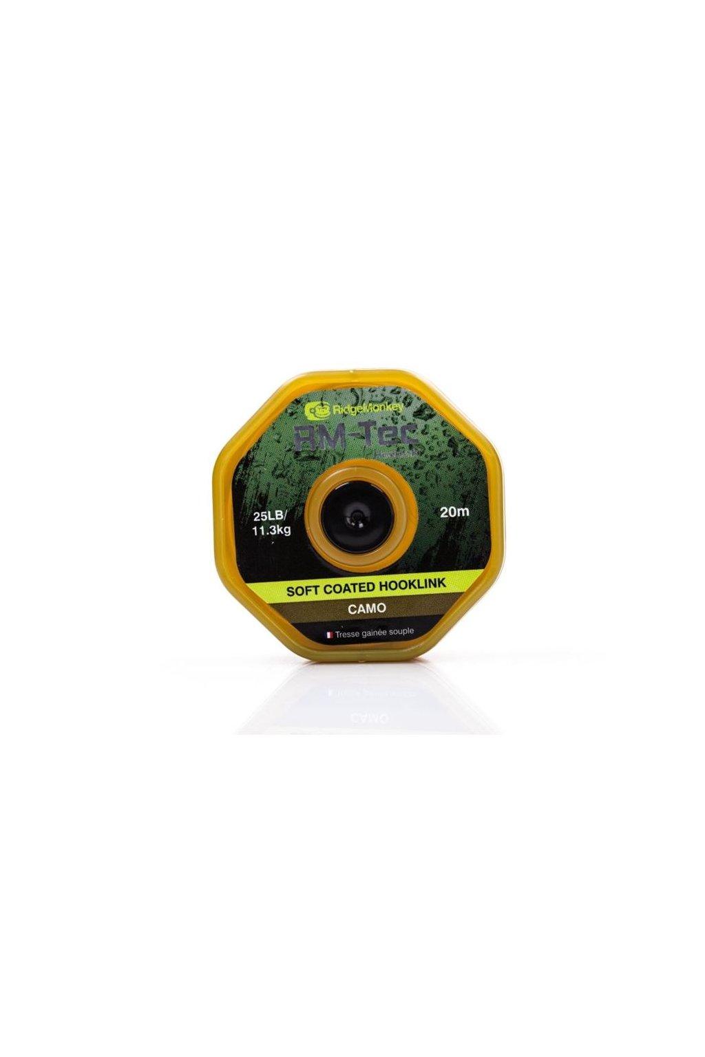 RidgeMonkey Šnůra RM-Tec Soft Coated Hooklink 20m Camo