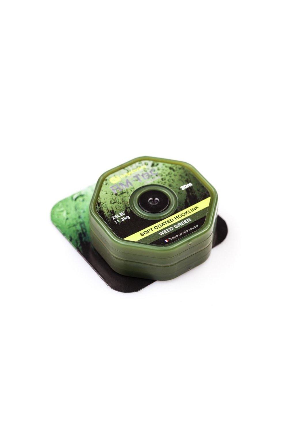 RidgeMonkey Šnůra RM-Tec Soft Coated Hooklink 20m Zelená