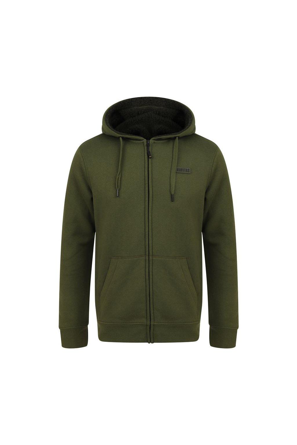 Navitas: Mikina Sherpa Zip Hoody Green Velikost M