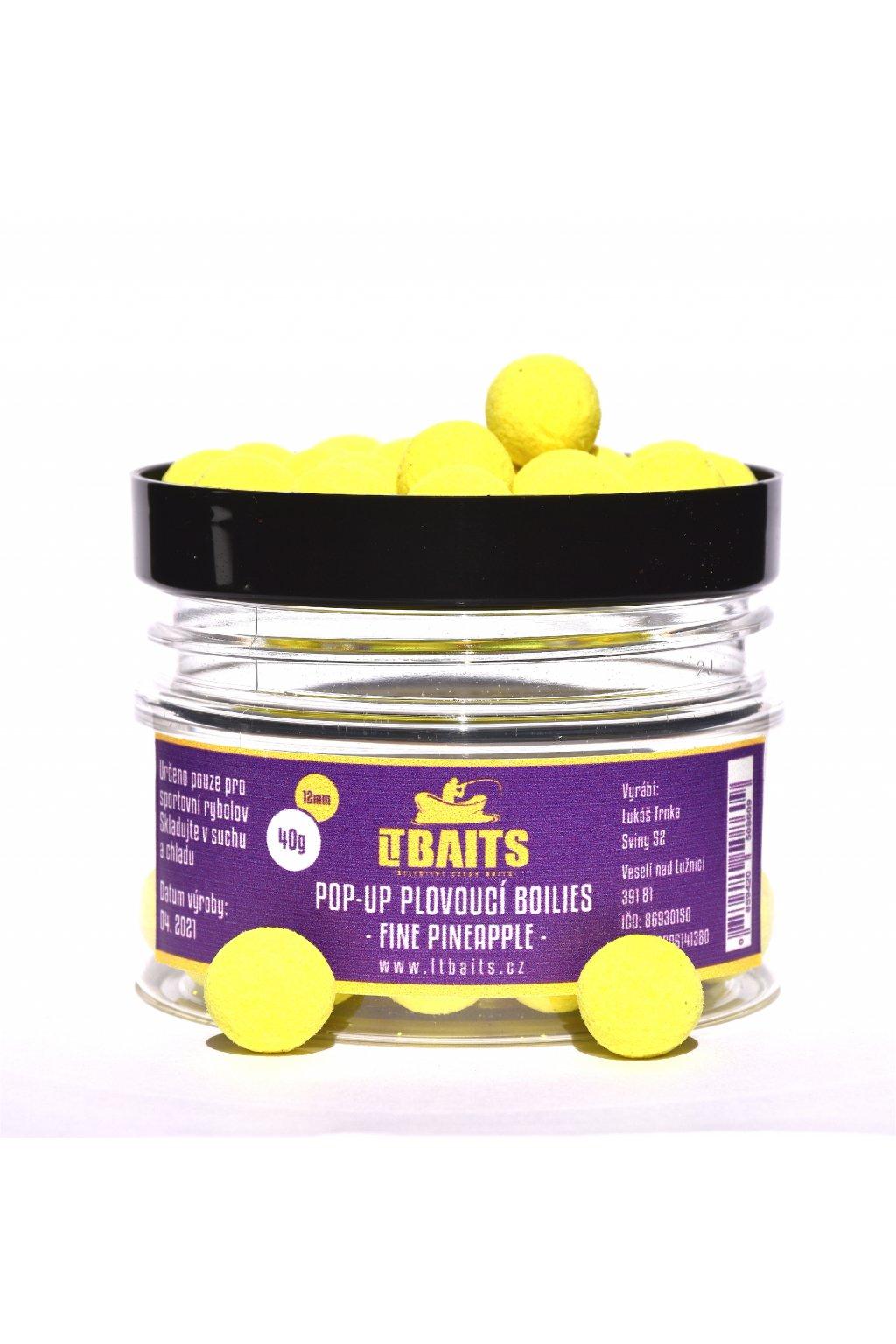 LT Bait Pop Up Boilies Fine Pineapple 40g