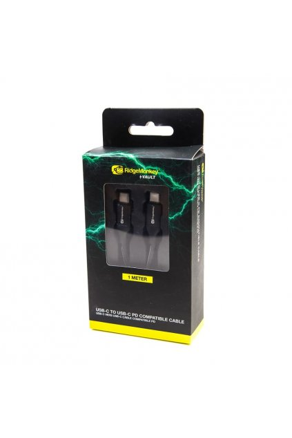 RidgeMonkey: Napájecí kabel Vault USB C to C Power Delivery Compatible Cable 1m