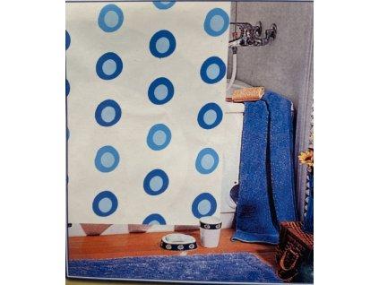 10746 kupelnovy zaves peva vzorovany 183x183 cm modre kruhy