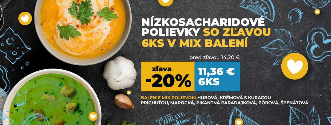 Akcia na lowcarb nízkosacharidové polievky