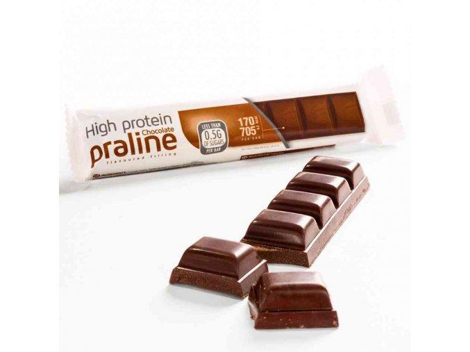 Mliečna čokoláda s nugátovou náplňou