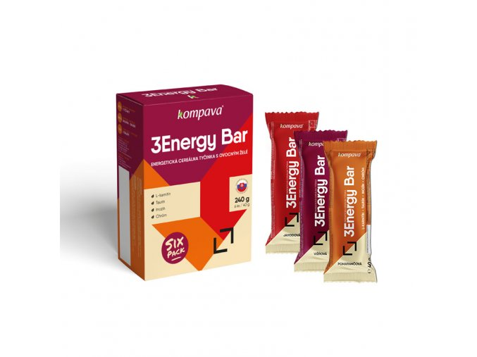 3 Energy Bar Sixpack