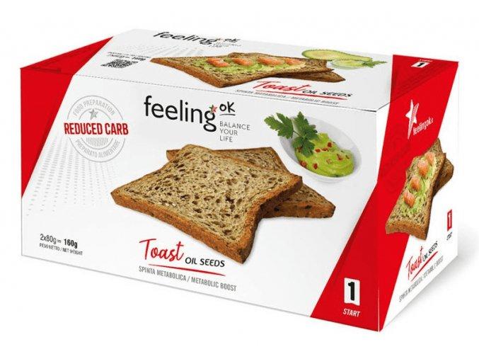 Chrumkavý semiačkový toast