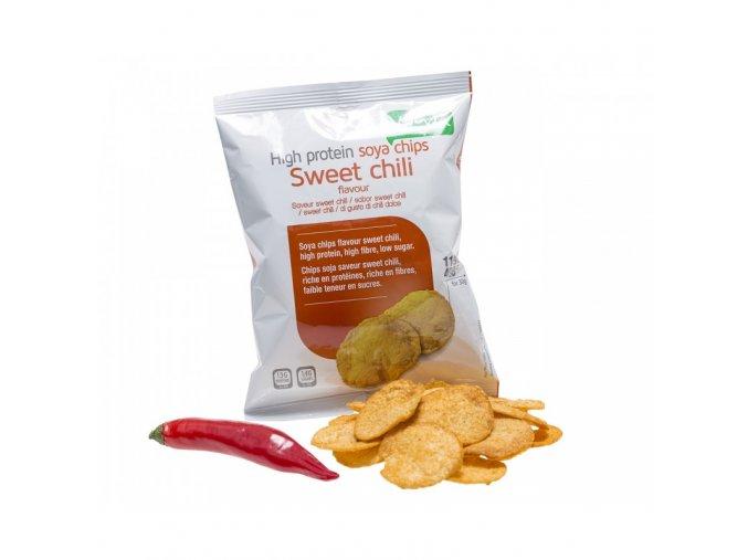 Chipsy s príchuťou sladkého chilli