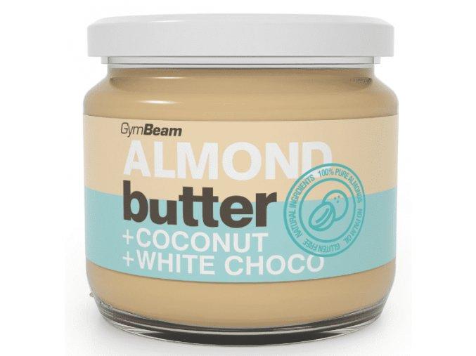 Mandľové maslo s kokosom a bielou čokoládou