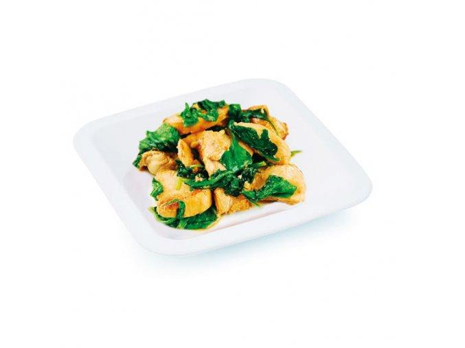 Kuracie mäso so špenátom a smotanou