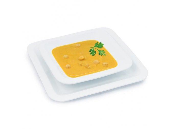 Zeleninová polievka s krutónmi