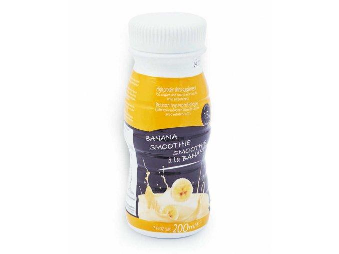 Mliečne smoothie s banánovou príchuťou