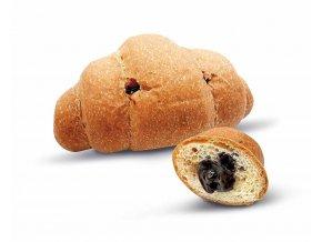 Croissant s kakaovo-orieškovou náplňou