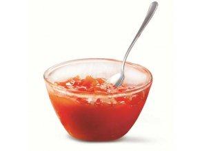 Jahodový džem v pohári