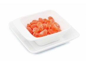 Gumové cukríky s pomarančovou príchuťou