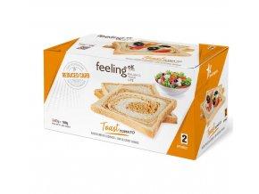 Chrumkavý proteinový toast - paradajkový