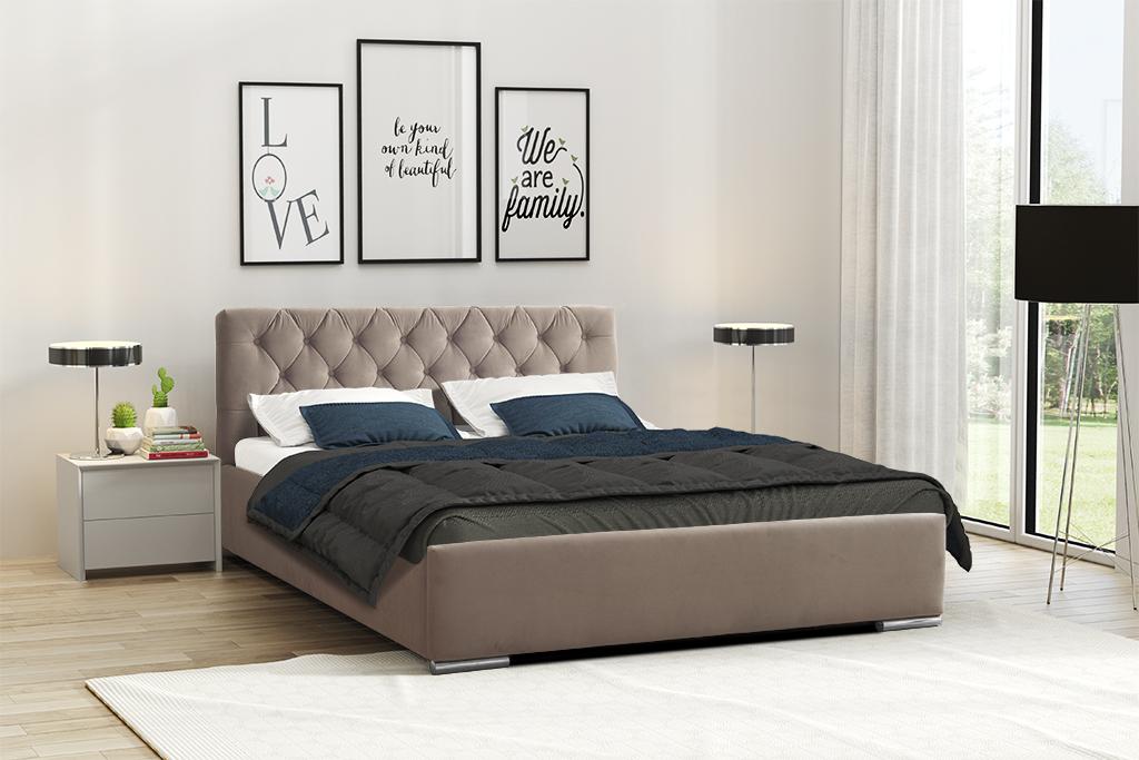 Levně Eka Čalouněná postel Elegant 120x200 cm Barva látky Casablanca: Tmavá hnědá (08)
