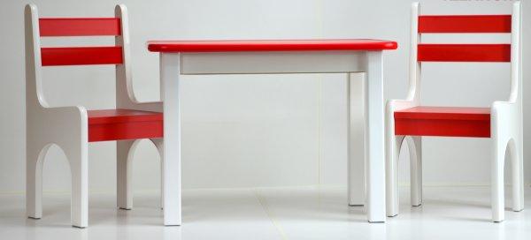 Levně Stůl a dvě židličky K1 červená