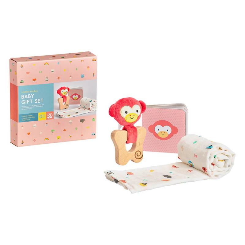 Levně Petitcollage Dárkový set pro miminka opička