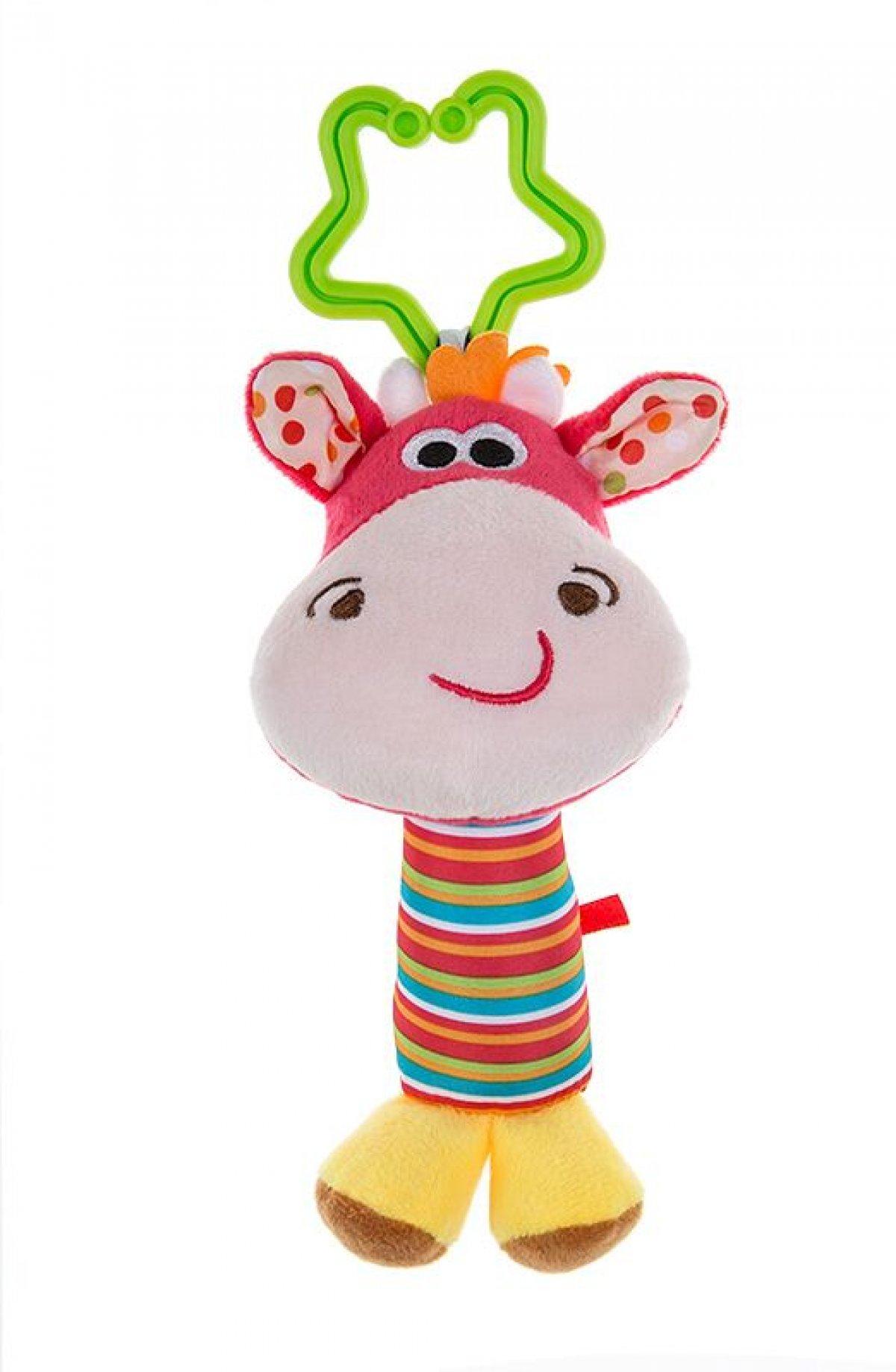 Plyšové chrastítko - žirafa