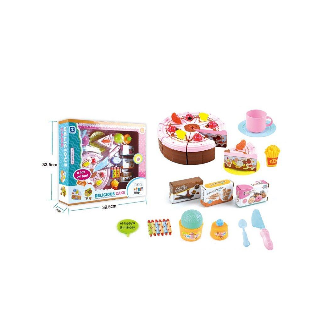 Levně Narozeninový dort s cukrovinkami