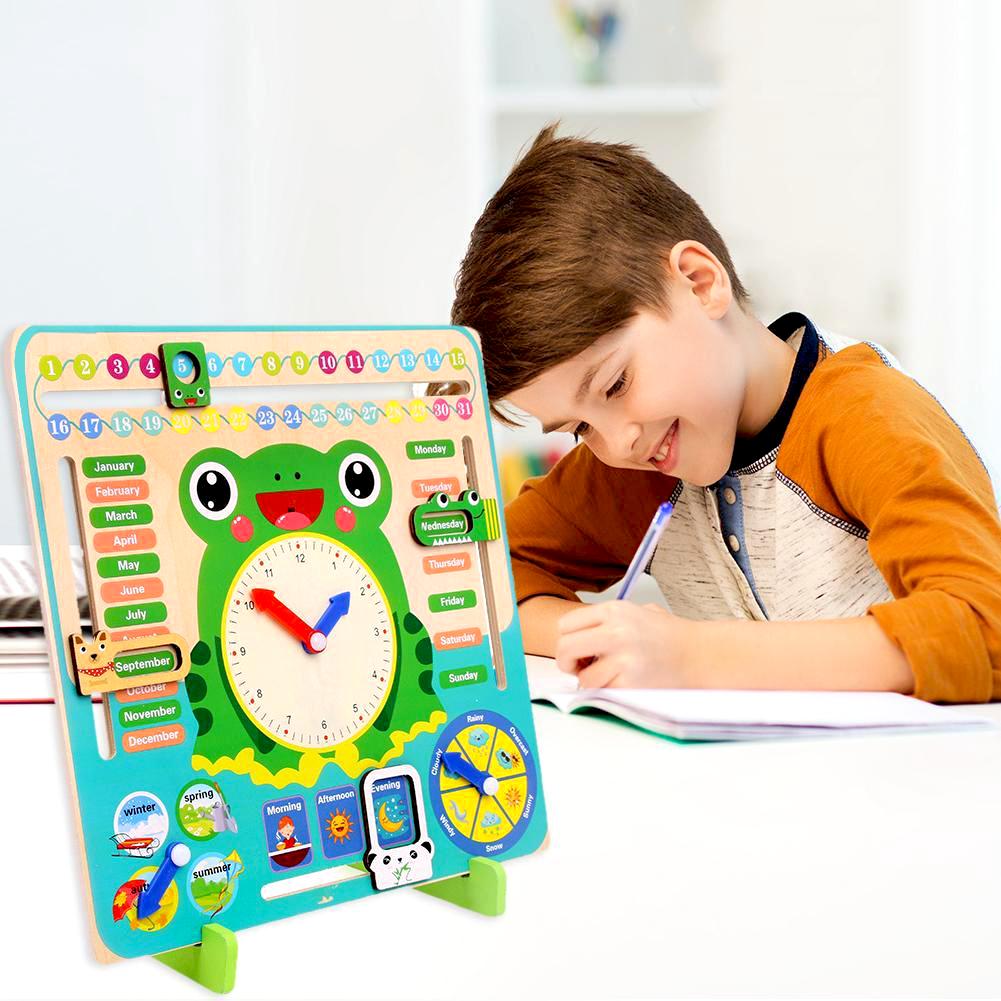Angličtina hrou - Dřevěný didaktický kalendář pro děti