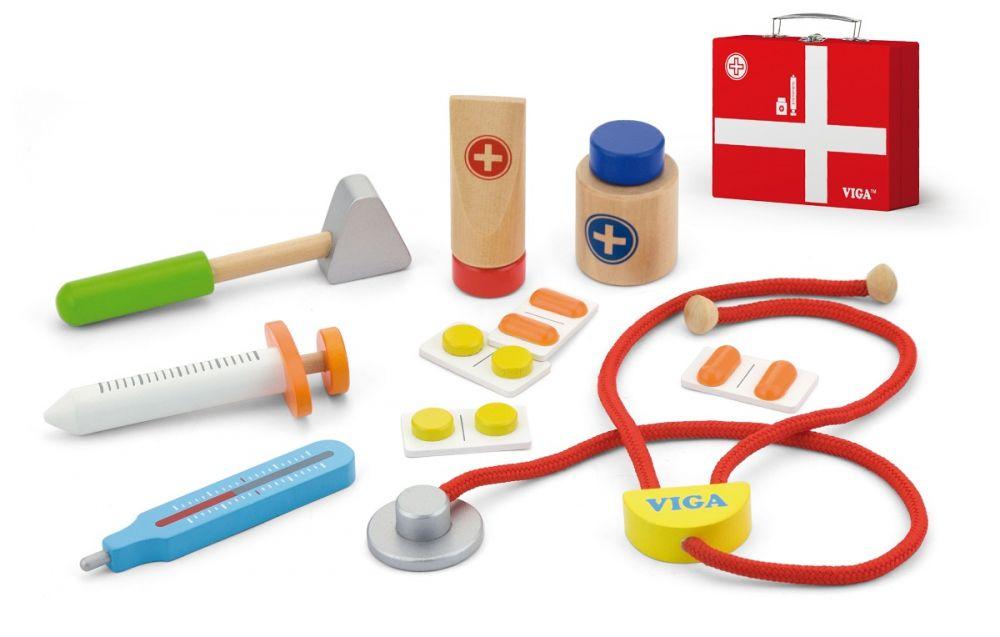 NEF Dětská dřevěná sada - Doktorský kufřík