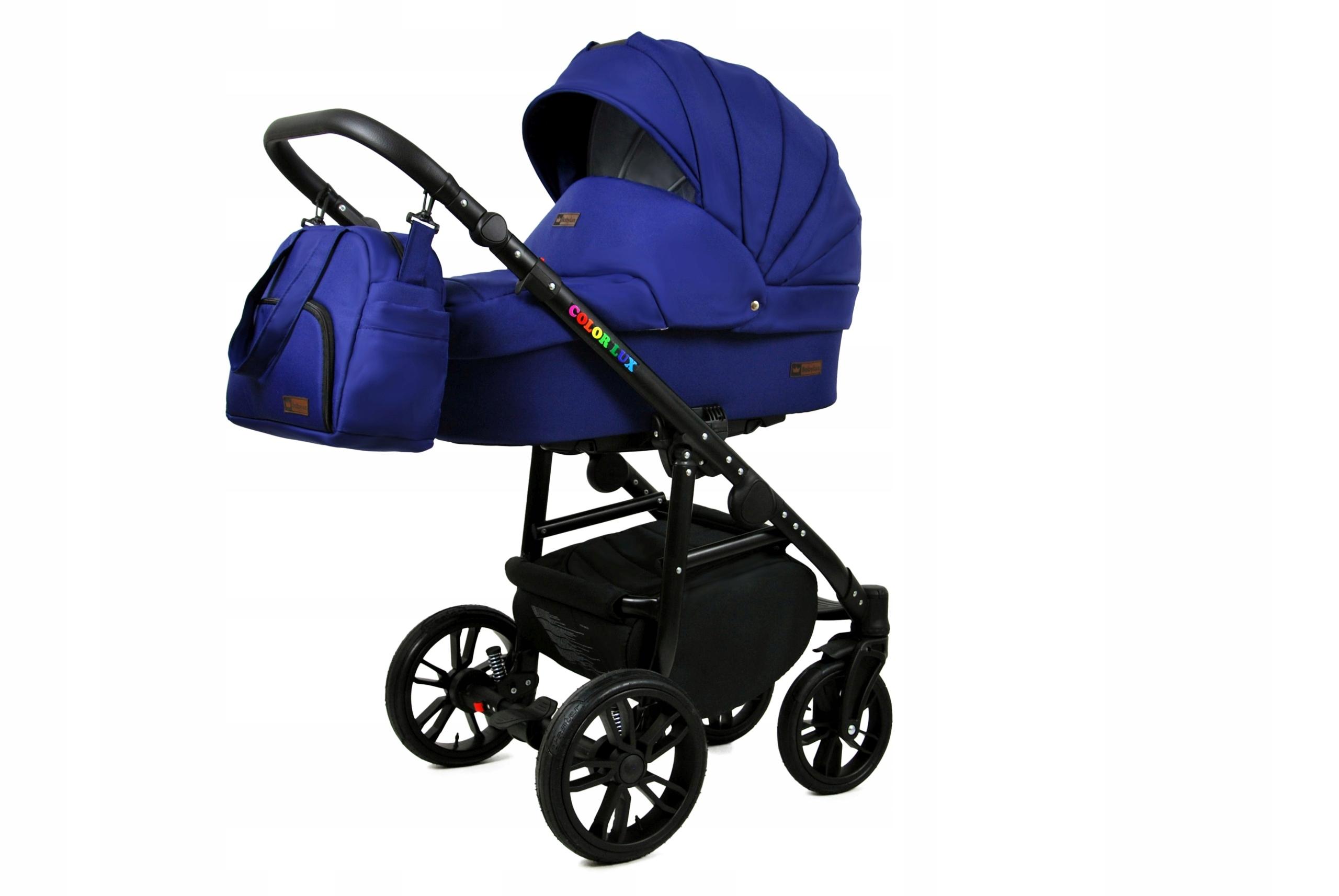 Raf Dětský kombinovaný kočárek Color Lux – 2v1 Barva kočárku Color Lux: Tmavě modrá / černá