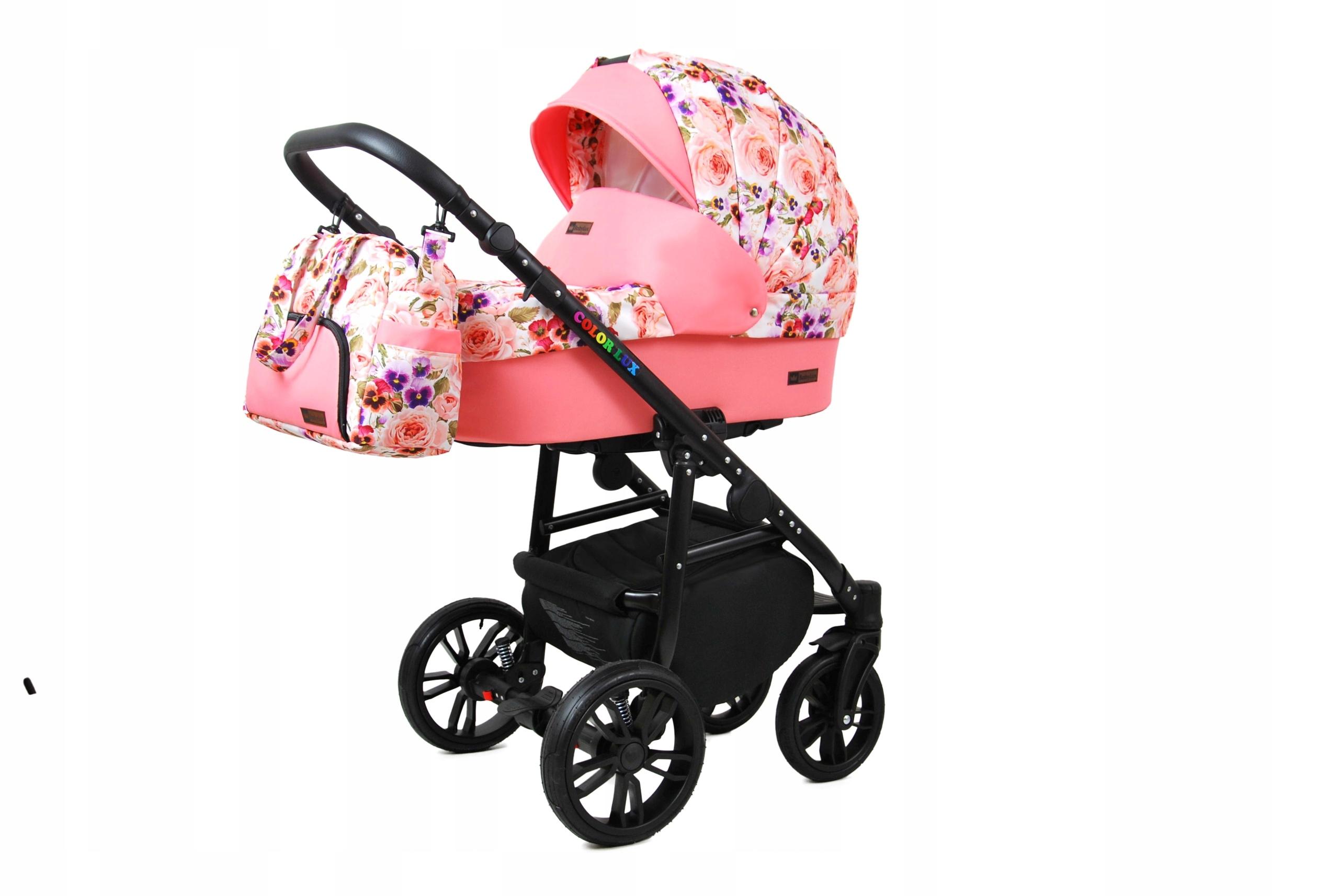 Raf Dětský kombinovaný kočárek Color Lux – 2v1 Barva kočárku Color Lux: Růžová / černá