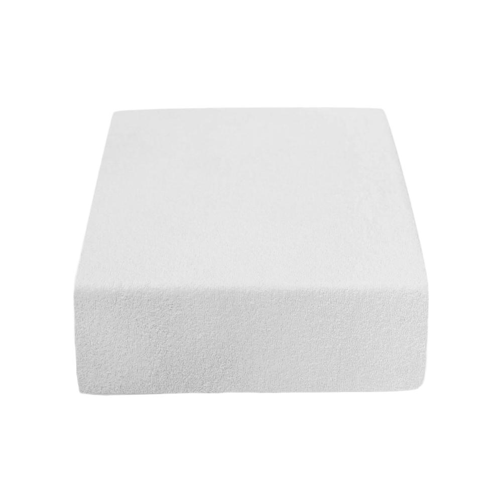 PupyHou Dětské prostěradlo do postele Froté - 120 x 60 cm, Bílá