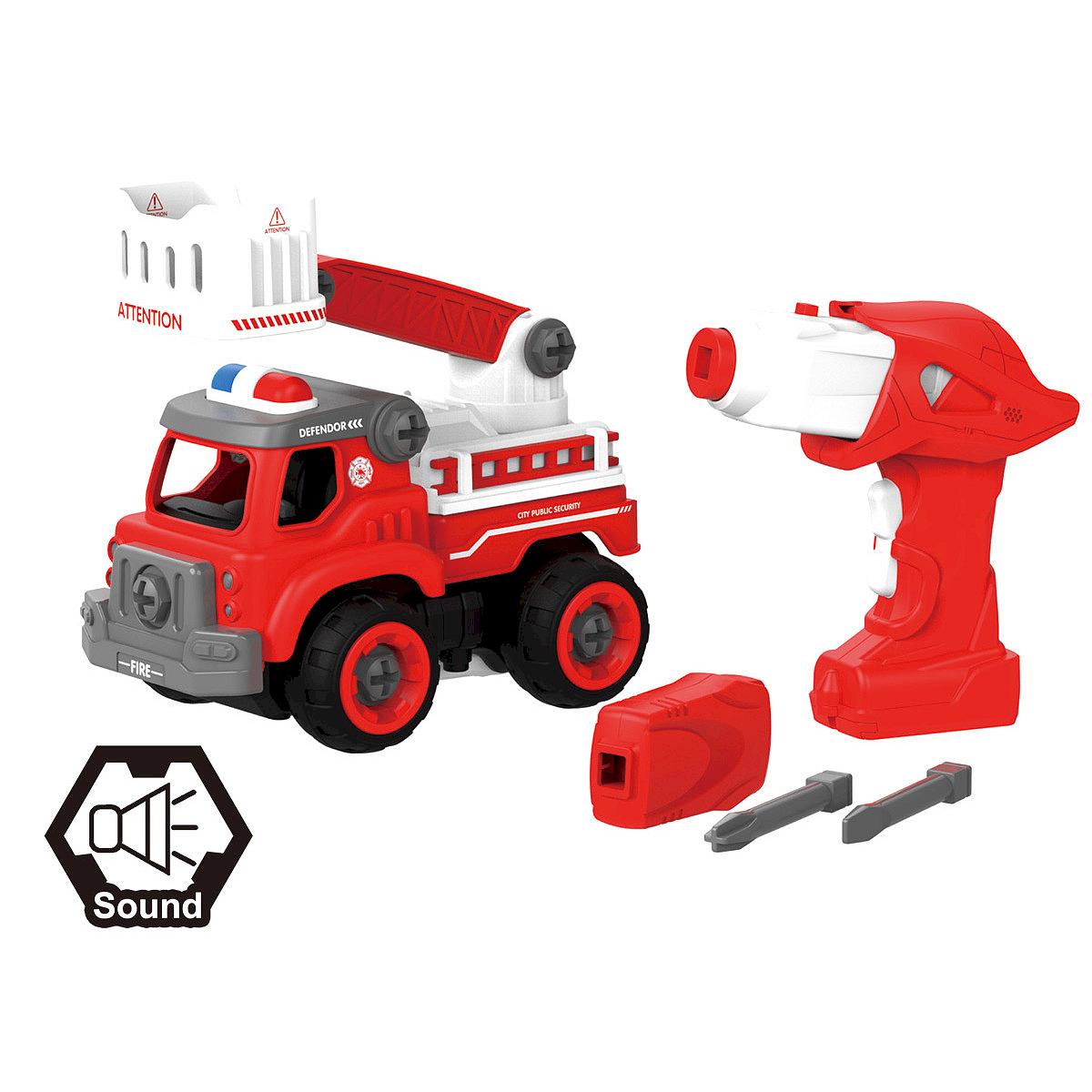 Mirny Kreativní šroubovací hasičské auto se šroubovákem