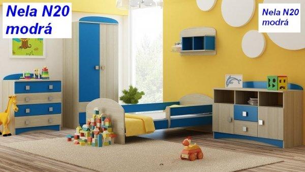 Almers Postel Nela N20 180/90 cm + matrace modrá