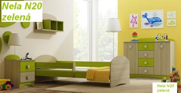 Almers Postel Nela N20 140/70 cm + matrace zelená