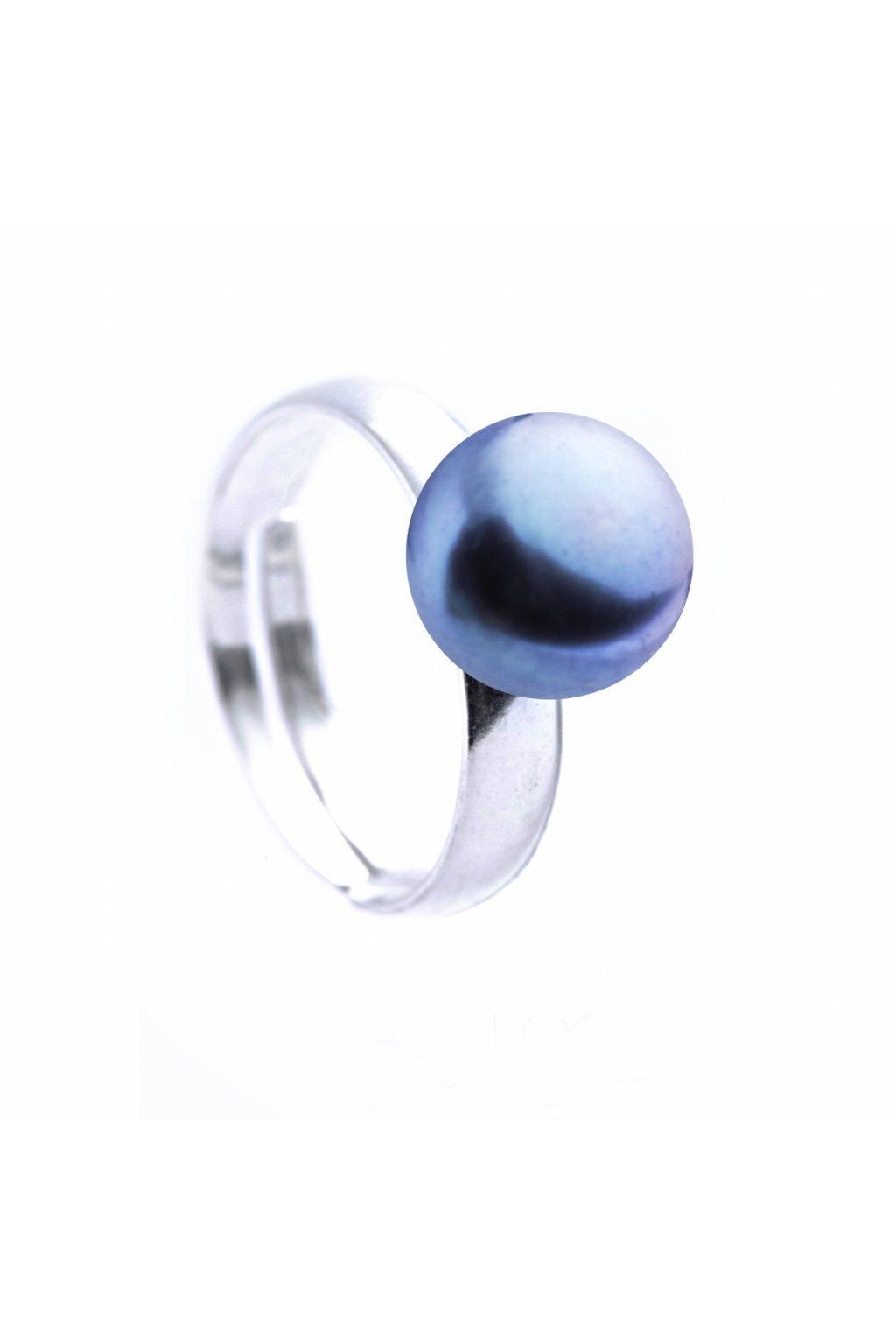 Modrý perlový prsten