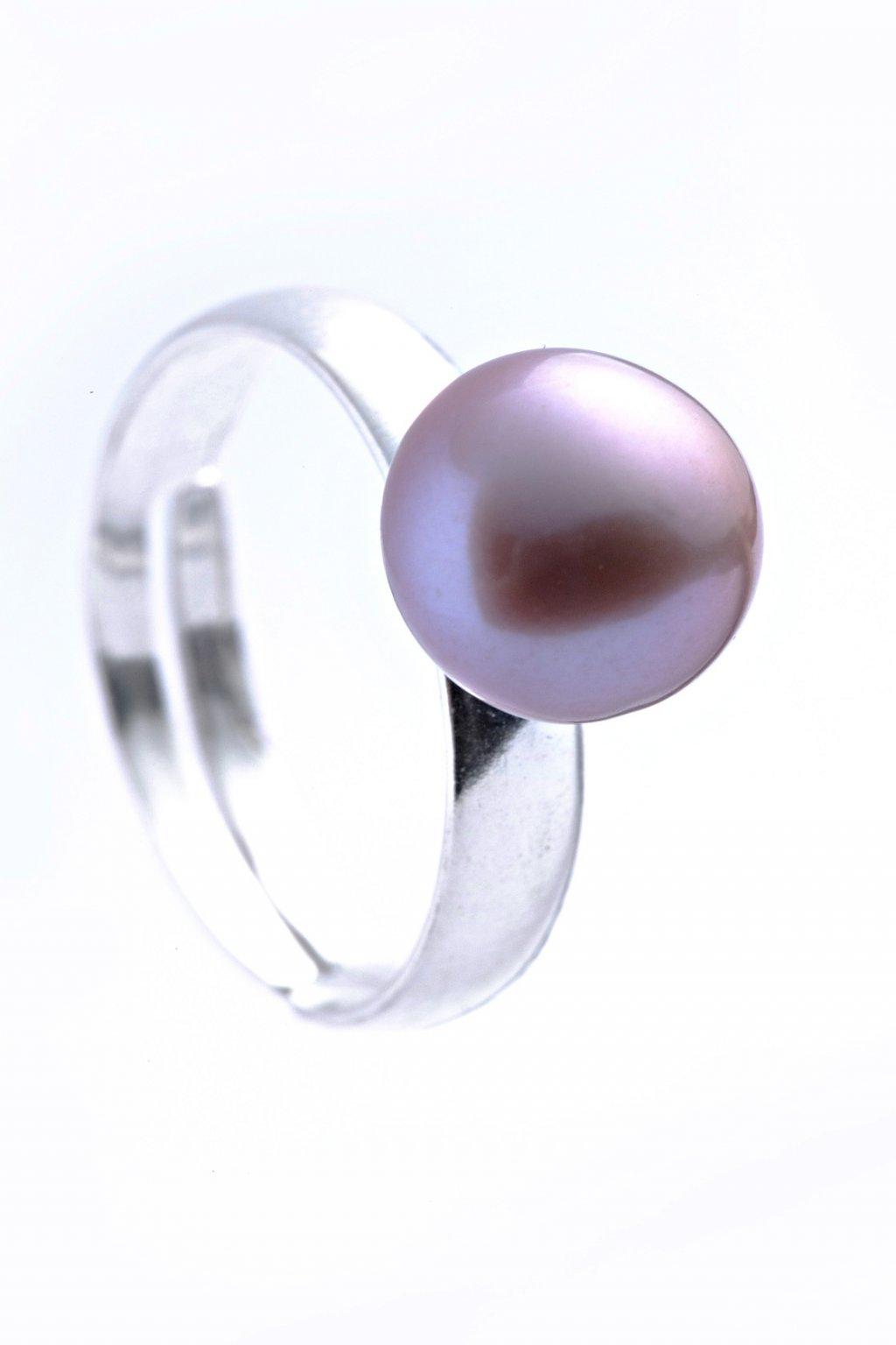 Růžový perlový prsten