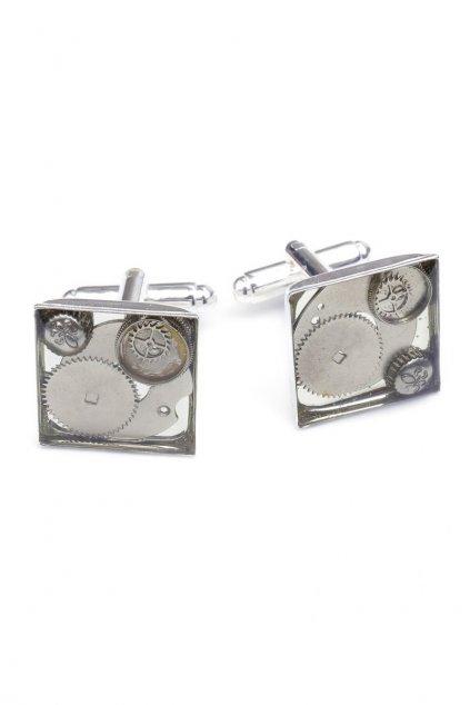 Manžetové knoflíčky Silver Machines