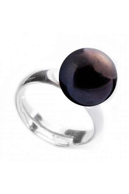Černý perlový prsten