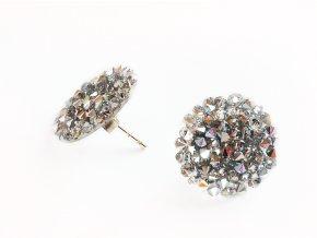 Náušnice Zářící hvězdy ze stříbra a krystalů