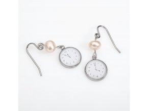 Náušnice Za pět minut dvanáct s přírodní perlou
