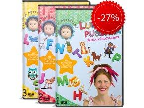 DVD Lucinka Pusinka 1, 2, 3 + DARČEK