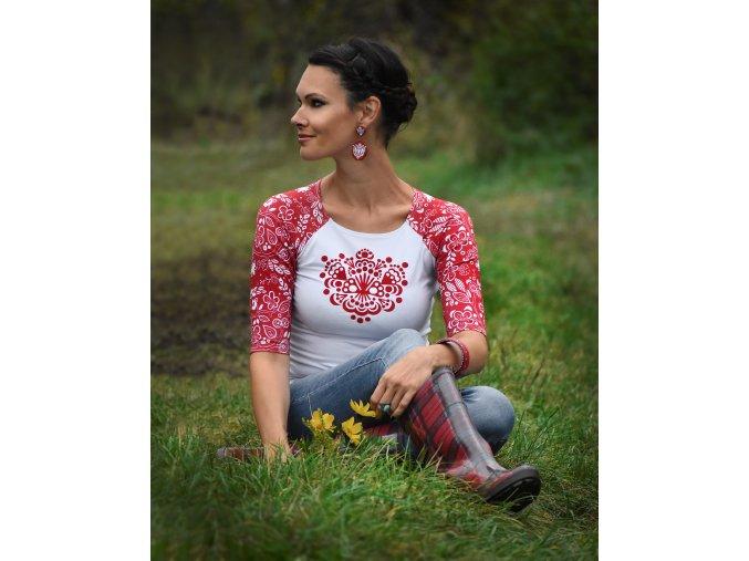 Tričko Red Ornamental