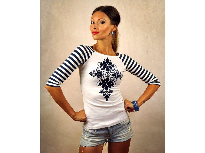 Tričko Blue Folk XL