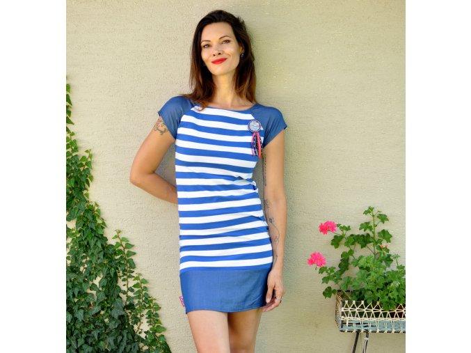 Šaty Blue Stripes S