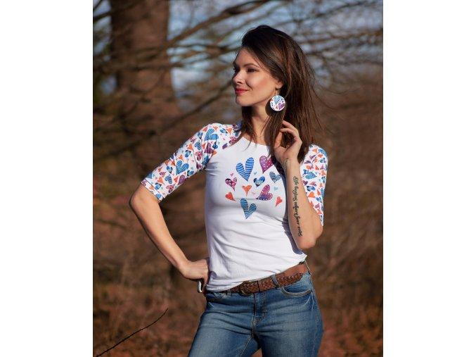 Tričko Delilah Raglan XL