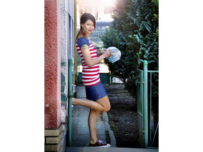 Šaty Folk Stripes (XS)