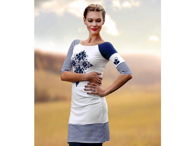 Šaty Blue Folk
