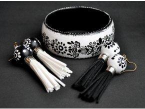 Náušnice Black and white