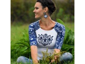 Tričko Blue Ornamental