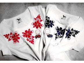 Tričko Simple Folkčervené