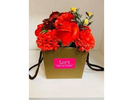 luxusné šumivé ruže - červená ruža